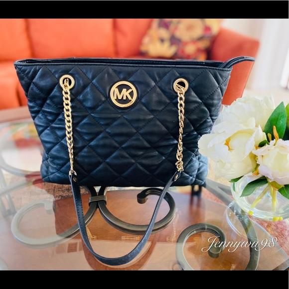 Michael Kors Handbags - Michael kors black quilted leather shoulder bag